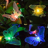 Ucharge S12 Fiber Optic Butterfly Shaped 12 LED Solar String Lights Multi - Chickadee Solutions - 1