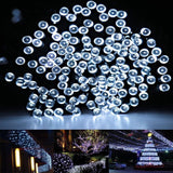 HDS-TEK HDS-LED-W Decorative Solar Powered Christmas Lights 200 LED String Li... - Chickadee Solutions - 1