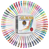 Best 60 Gel Pen Set for Adult Coloring. 60 Unique Top Quality Gel Ink Pens fr... - Chickadee Solutions - 1