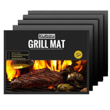 "Kubzy BBQ Grill Mat Set of 4 16"" x 13"" Non-Stick Durable Heat Resistant - Per... - Chickadee Solutions - 1"