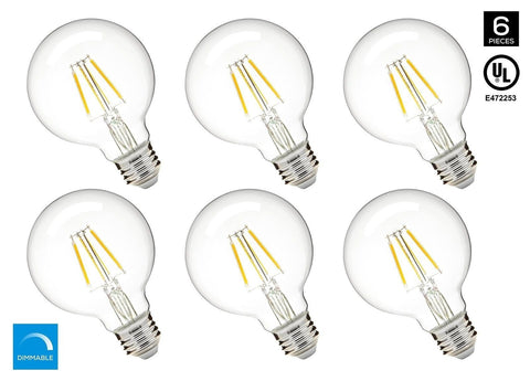 Hyperikon G25 LED Vintage Filament Bulb 5W (40W Equivalent) 480 lumen 2300K (... - Chickadee Solutions - 1
