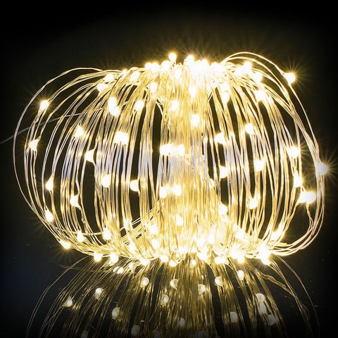 Dolucky Solar String Lights 150 LED Outdoor Starry String Lights Copper Wire ... Chickadee ...