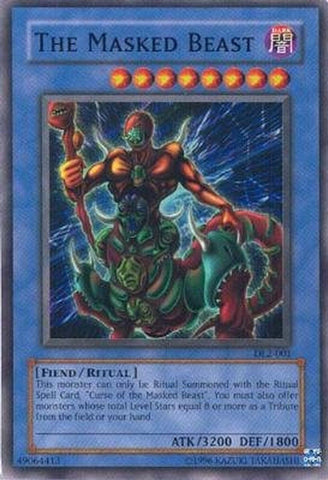 Yu-Gi-Oh! - The Masked Beast (DL2-001) - Duelist League Prize Card - Limited ... - Chickadee Solutions