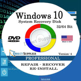 Windows 10 - 32/64 Bit DVD SP1 Supports PROFESSIONAL Edition. Recover Repair ... - Chickadee Solutions - 1