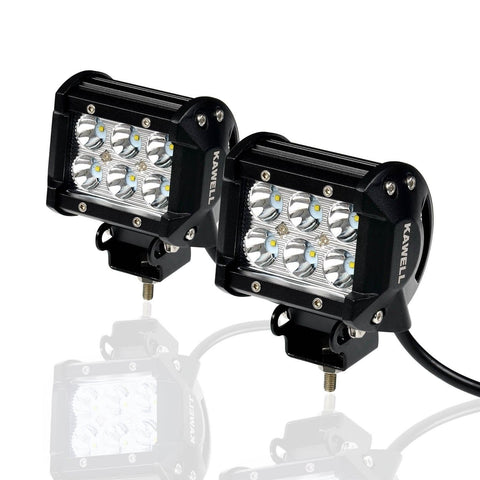 KAWELL 2-Pack 18w 1260 Lm Cree Spot Led Work Light Bar LED Off Road LED Work ... - Chickadee Solutions - 1