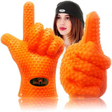 Grilling Gloves Pot Holders With Bonus Chef's Bandana - Silicone Cooking Glov... - Chickadee Solutions - 1