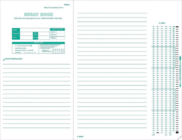 mini essay book scantron testing