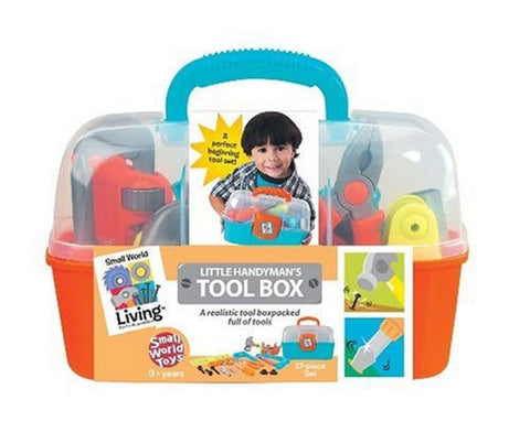Small World Toys Living - Little Handyman's Tool Box 17 Pc. Playset - Chickadee Solutions