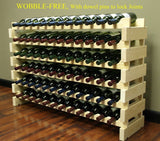 Stackable Wine Rack - 72 Bottles Modular Wine Storage Display Racks Wobble-Fr... - Chickadee Solutions - 1