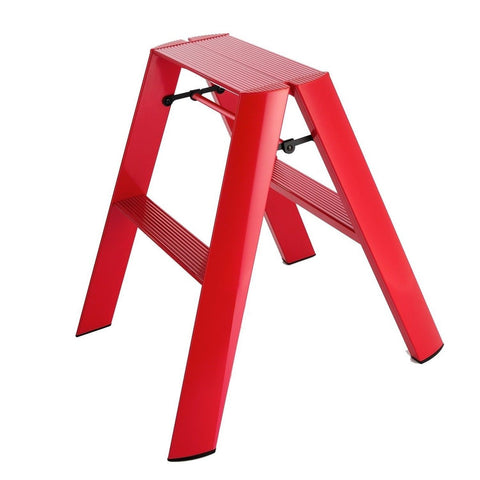lucano step stool 2step Red - Chickadee Solutions - 1