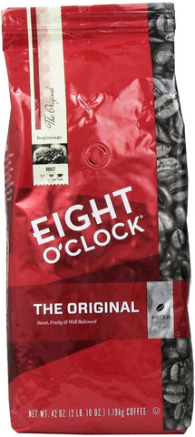Eight O'Clock Coffee Original Whole Bean 42-Ounce Package 42 oz bag - Chickadee Solutions - 1