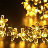 GreenEmart Flower Solar Powered LED Fairy String Lights - 50 LEDs 7m Starry W... - Chickadee Solutions - 1