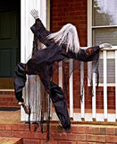 "63"" Life Size Climbing Zombies Halloween Haunted House Prop Decor (black) black - Chickadee Solutions"