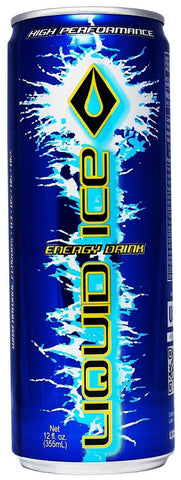 Liquid Ice Blue Energy Drink 12 Ounce 24 Count - Chickadee Solutions - 1