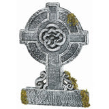 22in Mossy Celtic Cross Tombstone (Standard) One Size - Chickadee Solutions