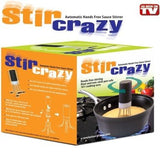 Stir Crazy Silicone Automatic Hands Free Pot Stirrer 3 Legged Black - Chickadee Solutions - 1