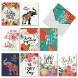 M6631OCB Optimisms: 10 Assorted Blank All-Occasion Note Cards Featuring Child... - Chickadee Solutions - 1