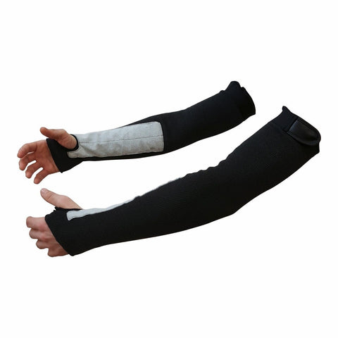 "22"" Black Kevlar Protective Arm Sleeves / Cut And Heat Resistant (1 Pair) - Chickadee Solutions"