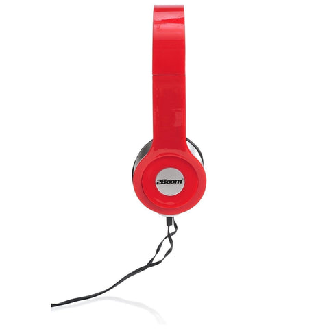 2Boom Professional Series Over Ear Wired Stereo Headphone Comfort Headset  Wit