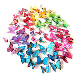 Goodlucky365 72 PCS multicolored 3d Butterfly Wall Stickers Decals 12pcs Blue... - Chickadee Solutions - 1