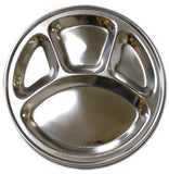 Stainless Steel Round Divided Dinner Plate 4 sections - Chickadee Solutions