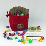 Third Die Celtic Dragon Dice Bag - HandcraftedReversible Drawstring Bag That ... - Chickadee Solutions - 1