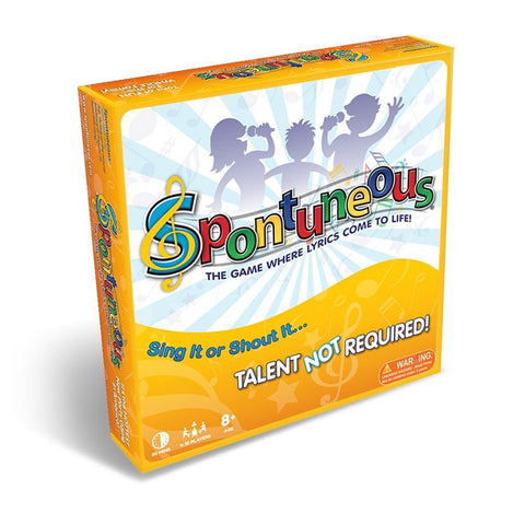 Spontuneous Board Game: The Game Where Lyrics Come to Life Sing It or Shout I... - Chickadee Solutions - 1