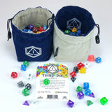 Third Die - Dice Bag - Handcrafted And Reversible Drawstring Bag That Stands ... - Chickadee Solutions - 1