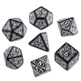 Steampunk Dice Black/White (7 Stk.) Board Game - Chickadee Solutions