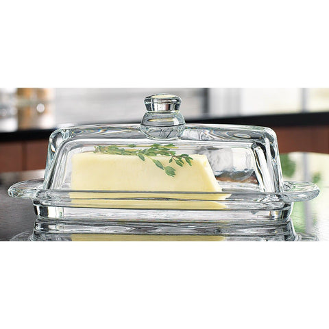 Home Essentials & Beyond 8965 Tablesetter Butter Dish with Knob 1 - Chickadee Solutions