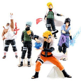 GRHOSE New NARUTO Anime 14-17cm PVC Figure Set with Base toys of 5pcs classic - Chickadee Solutions