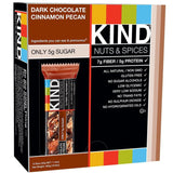 KIND Bars Dark Chocolate Cinnamon Pecan Gluten Free 1.4 Ounce Bars 12 Count - Chickadee Solutions - 1