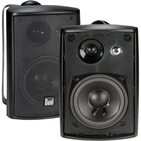 Dual LU43PB 100 Watt 3-way Indoor/Outdoor Speakers in Black (Pair) - Chickadee Solutions - 1