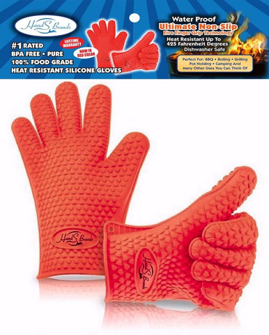 Heat Resistant Silicone BBQ Gloves - Best Oven Gloves - Best Grill Gloves Gr... - Chickadee Solutions - 1