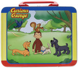 Pressman Toys Curious George Puzzle in Lunchbox Tin (24 Piece) - Chickadee Solutions