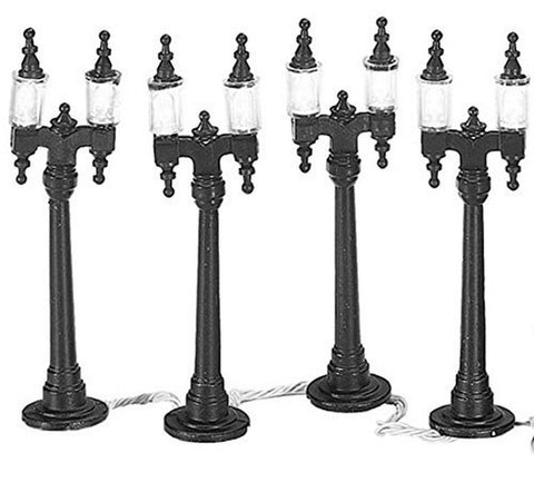 Department 56 Village Double Street Lamps Set of 4 - Chickadee Solutions