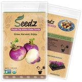 CERTIFIED ORGANIC SEEDS (Apr. 1100) - Purple Top White Globe Turnip Seeds - H... - Chickadee Solutions - 1