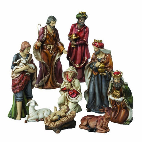 Kurt Adler Porcelain Nativity Figures Table Piece 9-Inch Set of 9 - Chickadee Solutions