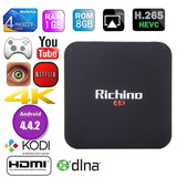 2016 NEWEST Richino Q1 Pro Android 4.4 KODI 16.0 4K OTT TV BOX RK3229 Quad co... - Chickadee Solutions - 1