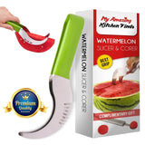 1 Choice Watermelon Slicer Corer - Best Grip - PVC handle - Highly durable - ... - Chickadee Solutions - 1