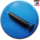 Air Stability Wobble Cushion Blue 35cm/14in Diameter Balance Disc Pump Included - Chickadee Solutions - 1