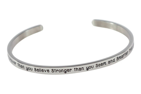 """You Are Braver Than You Believe Stronger Than You Seem"" Premium Stainless St... - Chickadee Solutions - 1"
