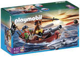 PLAYMOBIL Pirates Rowboat with Shark - Chickadee Solutions - 1
