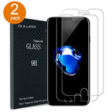 iPhone 7 Screen Protector OULUOQI 2 Pack Premium Tempered Glass Screen Protec... - Chickadee Solutions - 1