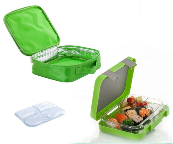 the chill box bento lunch box with insulated bag and icepack chickadee solutions. Black Bedroom Furniture Sets. Home Design Ideas