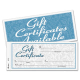 Adams Gift Certificate Book Carbonless Single Paper 3.4 x 8 Inches White 2-Pa... - Chickadee Solutions