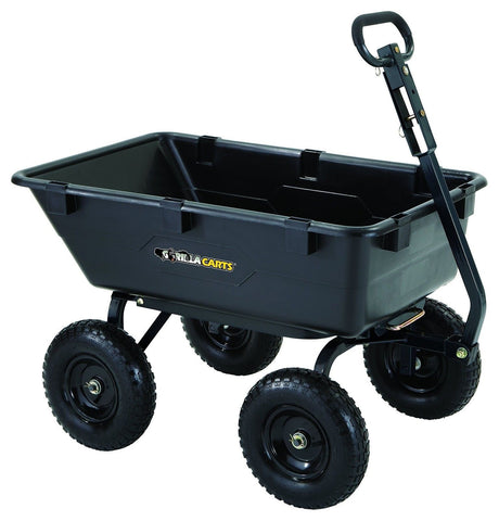 Gorilla Carts GOR6PS Heavy-Duty Poly Yard Dump Cart with 2-In-1 Convertible H... - Chickadee Solutions - 1