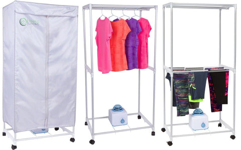 Chickadee; Simple Living Electric Portable Clothes Drying Rack   Compact  Wardrobe Dryer .