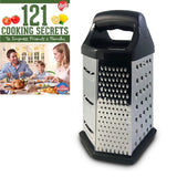 Cheese Grater Box Design Stainless Steel Multi-purpose 6 Sided Hex Cooking Se... - Chickadee Solutions - 1