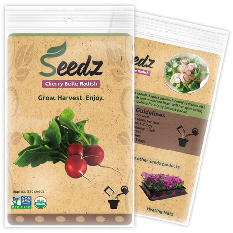 CERTIFIED ORGANIC SEEDS (Approx. 550) - Heirloom Radish Seeds - Cherry Belle ... - Chickadee Solutions - 1